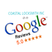 coastal locksmith, locksmith services, security, google, google reviews, 5 star service