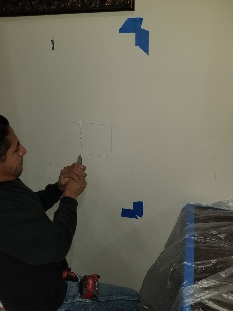 Residential wall safe installation, coastal locksmith inc, residential locksmith, safe locksmith, orange county locksmith, Irvine locksmith