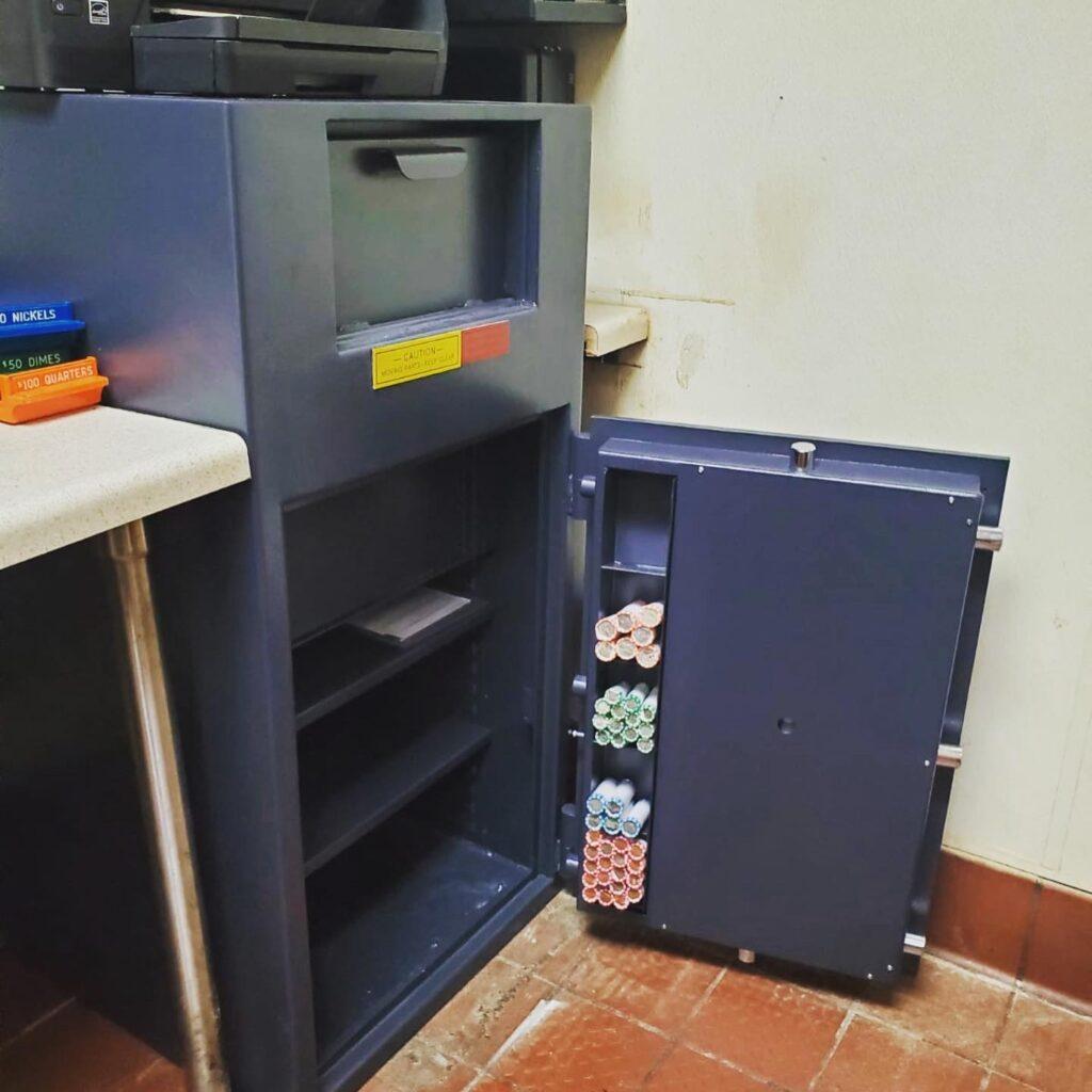 Safe Installation, Wendy's, Orange County Locksmith, Coastal Locksmith Inc, local locksmith, safe locksmith, commercial locksmith, floor safe, AMSEC Depository Safe