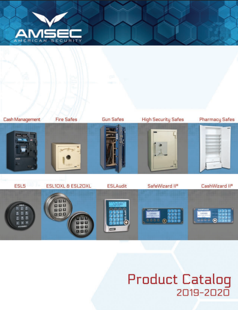Amsec safe catalog 2020, orange county, safes, safe locksmith, coastal locksmith,